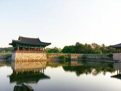 Anapji Day View (Cassan Weish) Tags: anapji pond night view day wolji donggung gyeongju history historical light lights evening yellow old