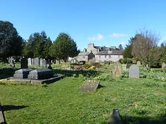 Church - St Mary, Kirkby Lonsdale 180405 [churchyard 2] (maljoe) Tags: church churches stmarys kirkbylonsdale stmaryskirkbylonsdale stmaryschurchkirkbylonsdale stainedglass stainedglasswindow stainedglasswindows graveyard