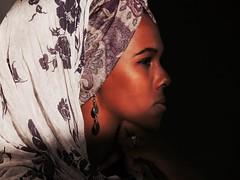 F A T I M A (Vivi Black) Tags: shadows africa strong feelings light beauty women marroko portrait