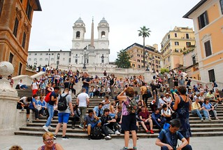 Crowded on the Spanish Steps