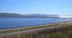 Sunny mirrors on the Volga surface (МирославСтаменов) Tags: russia togliatti volga river coast upland slope overlook zhiguli ripple