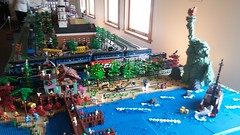 "MichLUG at Durand railroad days 2018-05-20 (5) (""MOOSE"") Tags: michlug michltc michigan lego durand railroad days 2018 trains jaws liberty planetofapes 1225 965 polarexpress"