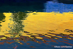 Reflecting colours, Sultan's swimming pool, Kraton Sumenep, Madura (Sekitar) Tags: pulau madura suramadu insel island indonesia provinsi jawa timur ostjava java eastern sultan kolam renang keraton colour pattern swimming pool kraton sumenep yellow kuning blue biru earthasia