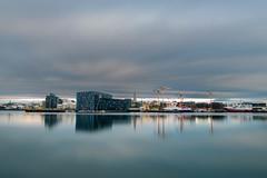 Reykjavík harbour (Þorkell) Tags: longexposure bigstopper clouds harpa cloudy höfn reykjavíkurhöfn leefilter sjór iceland sigma24mmf14dghsmart reykjavík nikond750 harbour sea