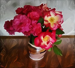 Bouquet with Tribal Textures (GeminEye27) Tags: dreamscope pixelbenderoilpaint topazclean