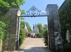 Château de Nitray in Athée-sur-Cher (Touraine) (Sokleine) Tags: château nitray castle architecture domaine resort wineyards viticole athéesurcher 37270 indreetloire heritage touraine centrevaldeloire frenchheritage france gate portail entrée entrance through ironwork ferronnerie