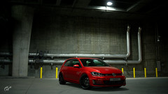 VW Golf GTI (Matze H.) Tags: vw golf gti volkswagen 7er gt sport gran turismo underground tuning red wallpaper uhd 4k screenshot scapes playstation