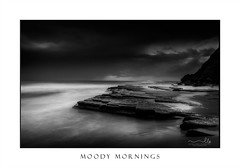 Storm clouds moving out to sea at dawn (sugarbellaleah) Tags: water ocean stormy moody storm rain clouds weather dawn morning outdoors rocks gloomy sky waves longexposure beach landscape tide sand australia northernbeaches turimetta flowing