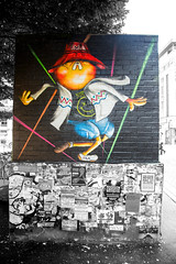 Madchester Jake Lost Hills contrasts (PDKImages) Tags: manchester manchesterstreetart streetart poster art posterart contrasts urbanart murals city jake losthills thenorthernquarter