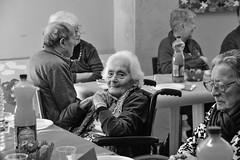 Giovanni XXIII (Claudia Celli Simi) Tags: bw bn biancoenero blackandwhite contrasto monocromo monocrhome volti ritratti portrait anziani istitutogiovannixxiii comunitàsantegidio viterbo 50anni festa pasqua2018