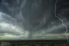 Close shave (Dave Arnold Photo) Tags: nm nmex newmex newmexico loslunas manzano mountains range lightning lightening desert storm stormy thunderstorm thunder image pic us usa picture severe photo photograph photography photographer davearnold davearnoldphotocom nighttime sun scenic cloud rural pussy summer badweather top wet night canon 5d mkiii 24105mm huge big valenciacounty landscape nature monsoon outdoor weather rain rayo cloudy sky cloudburst raincolumn rainshaft season southwest monsoons strike ray