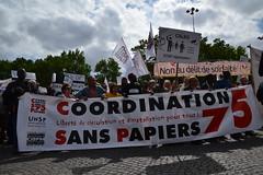 coordination sans papiers 75 (2) (Jeanne Menjoulet) Tags: marche solidaire migrants immigration paris manifestation manif sanspapiers collectifsanspapiers calais délitdesolidarité