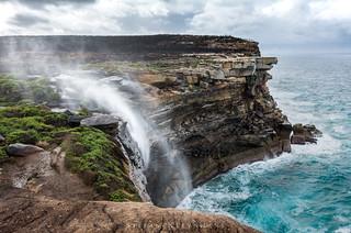 Curracurrong Falls and Eagle head rock  - Royal National Park - Australia