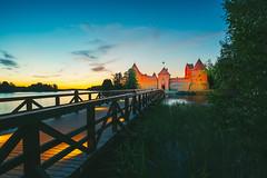Trakai Island Castle at Night   Lithuania #160/365