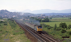 47.004 south of Stirling. Jun'89 (David Christie 14) Tags: stirling polmaise class47