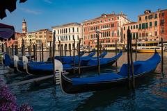 Gondolas in Venice (Rafał Banach) Tags: canalinvenice gondola italy sonya7riii sonyfe1635mmf28 venice wenecja architecture sky włochy water building city sonyilce7rm3