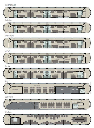 Belmond Grand Hibernian Train Plan