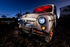 SEAT600 1967 (AdoL Photography) Tags: red blue street old canon canoneos5dmarkiv night light cars car