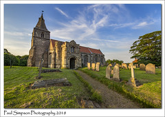 St Giles, Holme, Nottinghamshire (Paul Simpson Photography) Tags: stgiles holme nottinghamshire newarkandsherwood eastmidlands sonya77 paulsimpsonphotography religion religious history historic churchyard graves headstones tree bluesky eveninglight may2018 churchspire tower chruchroof path imagesof imageof photoof photosof england historicbuildings