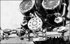 Goldstar steering damper (G. Postlethwaite esq.) Tags: bsa dof derbyshire goldstar heage sonya7mkii beyondbokeh bokeh classicbikes clocks closeup depthoffield fullframe handlebar mirrorless motorbikes photoborder selectivefocus windmill