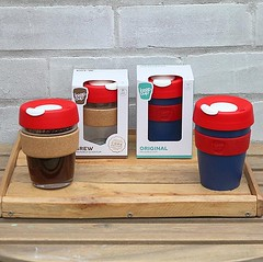 Our @keepcup collection has arrived  we've got a limited number of BPA and BPS free KeepCup Originals in snazzy galaxy blue, and these gorgeous glass and cork KeepCup Brew editions too 😍 to celebrate, we are offering a free first fill on all Ke (bombompatisserie) Tags: loughborough cake cafe bom patisserie
