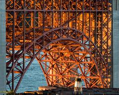 Fort Point Arch of the Golden Gate bridgeNEF (MiguelVP) Tags: goldengate arc bridge sanfrancisco steel sunset