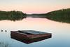 Thinking of Fish Camp (matthewkaz) Tags: zigzag zigzaglake lake water reflection reflections trees platform fishing fishcamp wildernessnorth sunset ontario canada 2017
