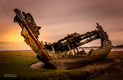 Art is Like a Shipwreck (Peeblespair) Tags: peeblespair raelawsonstudios fleetwood england coastal shipwreck decaying decay abandon wrecks sunset