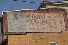 Belmont Motor Inn, Fairmont, WV (Robby Virus) Tags: fairmont westvirginia wv belmont motor inn caesars supper club nitely entertainment ghost sign signage brick wall ad advertisement faded forgotten painted