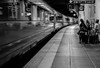 First train to Firenze (Nadia (no awards please !)) Tags: gare station florence firenze italie nb bw quai bologne bologna