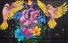 The Heart (Ellsasha) Tags: streetart murals muralist aro danielcalderon heart hearts birds yellow black blackbackground houston huefestival mexican artist artists color colous visualart corazon eastend