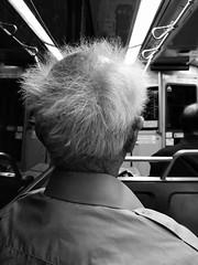 (wigmore126) Tags: iphone oldman grey balding bald hair underground passenger subway train njudah muni sanfrancisco