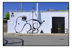 STREET ART by TRUST ICON (StockCarPete) Tags: trusticon snoopy streetart londonstreetart urbanart graffiti peanuts 10lbslighter
