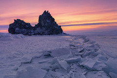 Russia 2018 (Andrew G Robertson) Tags: lake baikal russia siberia irkutsk shamanka rock sunset winter ice