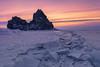 Russia 2018 (Andrew G Robertson) Tags: lake baikal russia siberia irkutsk shamanka rock sunset winter ice