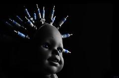 Implant(Ed) (LED Eddie) Tags: doll dark scary uncomfortable disturbed