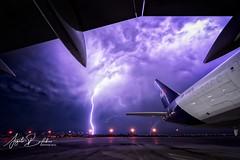 Purple Storm (Angelo Bufalino - Avstock.net) Tags: fedex boeing lightning storm thunderstorm sky nikon d5