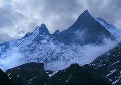Machapuchare from ABC (Pavlo Kuzyk) Tags: mountain sacred gods himalaya trek hiking nature