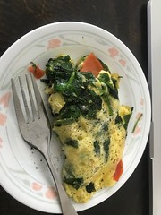 Spinach & Smoked Salmon Omelette 😀157