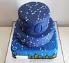 Constellation Cake (adrianarosati) Tags: cake cakedecoration cakedesign vanilla sponge buttercream jam tiers sky stars constellations astrology icing royalicing