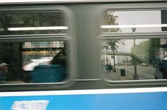 Reflections on a Passing Bus (shaundancekid) Tags: film portra 160 kodak nikon n65 color chicago ishootfilm filmisnotdead