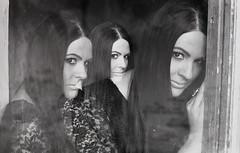Viktória (serkoh) Tags: girl portrait people fashion bw blackandwhite fomapan400 analog multiexpo threeexposure doubleexposure film canoneos300 canonef50mmf18ii