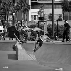 Tough Guy (MF[FR]) Tags: france championship finales finals skateboarding skate bowl ride sports sport athlete competition competitor man homme perpignan park noir et blanc black white samsung nx1 sequence