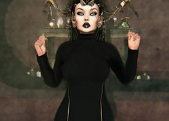 The Ritual (SueGeeli DeCuir) Tags: alaskametro gothmakeup nailart designershowcase kibdesigns dress vistaanimations bento head belleza pumec cureless cateye empyreanforge ay belleposes houseofshade ionic sayo secondlife virtualworld ritual blog blogger styleitup styleitupsl