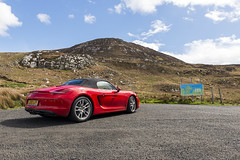 Mamore Tail (syf22) Tags: car automobile auto autocar automotor motor motorcar motorised porsche porscheclubgb porscheboxster 981s boxster981s red guardsred softtop convertible sportscar germanmade madeingermany mamoregap wildatlanticway eire ireland scenic viewpoint drive route rear back backside tail tailgate ass arse behind