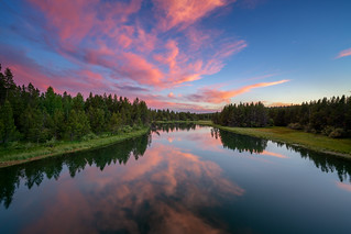 Sunset Deschutes River