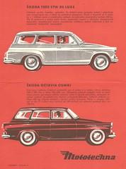 1964 Skoda station wagons (Hugo-90) Tags: mototechna skoda octavia 1202 station wagon combi 1964 ads advertising brochure catalog car auto automobile