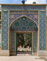 Shah Nematollah Vali Shrine (Ninara) Tags: iran kerman mahan shrine mosque shahnematollahvali sufi darvish pilgrimage tilework