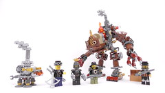 Steampunk SWAT team (Mishima Productions) Tags: lego mech steampunk swat turtle mishima robot moc brock brick
