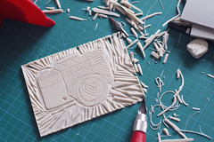 (Girl With Butterfly Wings) Tags: lino linocut cutting esdee printing craft art hobby camera
